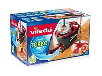 NEW Vileda Easy Wring and Clean Turbo Microfibre Mop and Bucket Set Rrp 45