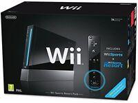 Nintendo Wii Black Console / Bundle