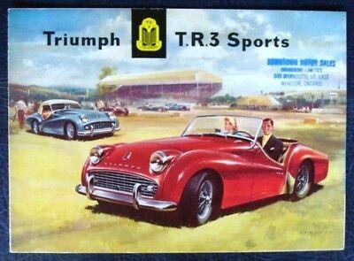 TRIUMPH TR3 SPORTS (EXPORT EDITION) SALES BROCHURE MARCH 1958.