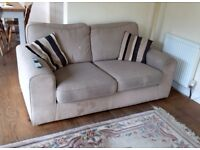 3 Piece Suite - 2 Sofas, 1 Armchair & Footstall