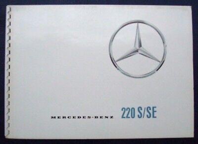 MERCEDES 220 S/SE CAR SALES BROCHURE (DANISH TEXT).