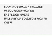Looking for dry storage in Southampton or Eastleigh area