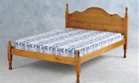 *** kingsize pine bed with Top quality mattress*** Can deliver