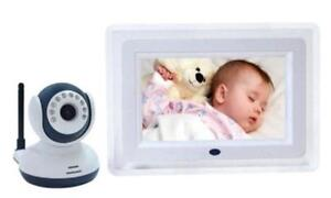 2.4GHz 7 inch Digital LCD Baby Monitor Kit Wireless Night audio