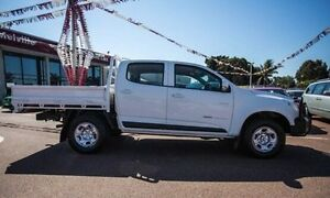 2013 Holden Colorado RG MY13 LX Crew Cab White 5 Speed Manual Cab Chassis Alfred Cove Melville Area Preview