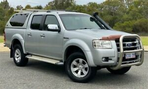 2007 Ford Ranger PJ XLT (4x4) Silver 5 Speed Manual Dual Cab Pick-up Cannington Canning Area Preview