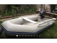 Waveline Dinghy With 5hp Outboard