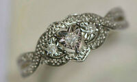 Sterling Silver Diamond Ring With Appraisal