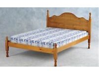 Solid pine double bed with quality mattress + Can deliver