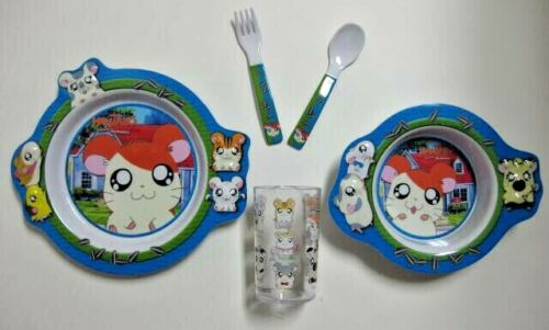 Hamtaro 5-Piece Dinnerware Set BRAND NEW WITHOUT ORIGINAL PACKAGING