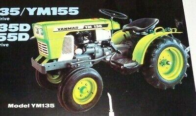 Yanmar Ym135 Ym155 Ym135d Ym155d Tractor Spec Sheet Sales Brochure Diesel