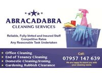 Abracadabra Cleaning Services- hiring cleaners