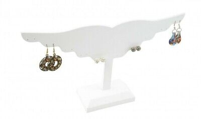 Jewelry Display Fixtures New Wing Shaped Earring Display 10 Pairs White