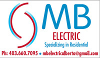 MB ELECTRIC**Licensed**Insured**WCB**Journeyman Electrician**