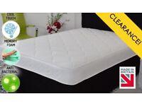 Brand new memory foam sprung mattresses