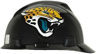 MSA NFL V-GARD JACKSONVILLE JAGUAR HARD HAT/PROTECTIVE CAP #818397-FREE SHIP-B8