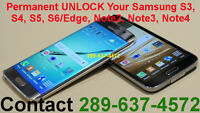UNLOCK Samsung Galaxy S6 Edge S3 S4 S5 Note1 Note2 Note3 *Note4*