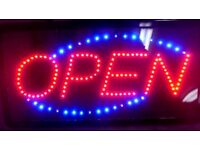 open OPEN light sign LED very bright £10 RRP £20 limited stock