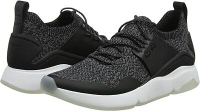 Cole Haan Women's Zerogrand All Day Trainer Sneakers Black Knit/Leather/White 7