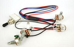Wiring-Harness-2-Volume-2-Tone-for-Dual-Humbucker-3-Way-Switch-500K-Pots