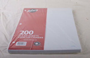 LOT OF 5 PACKS OF HILROY WRITING PAPER 200 SHEETS - NEW