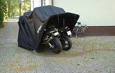 Motorradgarage Faltgarage Motorrad Quad Garage Schutzplane Faltzelt grau XXL gebraucht kaufen  Hamburg