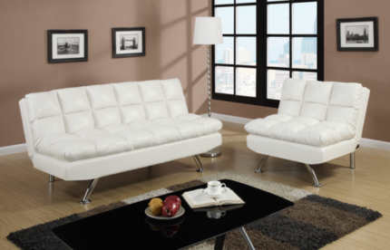 ***BRAND NEW***LEATHER LOOK ADJUSTABLE SOFA & CHAIR