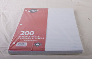 Lot of 12 packs of Hilroy ruled lined paper 200 sheets Brand new London Ontario image 1