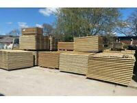 🌻 FEATHER EDGE STRAIGHT TOP WOODEN GARDEN FENCE PANELS - NEW