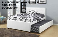SINGLE OR DOUBLE BED WITH TRUNDLE FOR 2- MIKES BEST PRICE AGAIN!