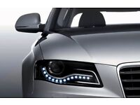 Brandnew waterproof white LED daytime running lights,avaialble for all car makes,cost £65,bargain£25