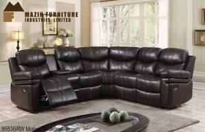 Brown Motion Sectional Recliner (MA214)