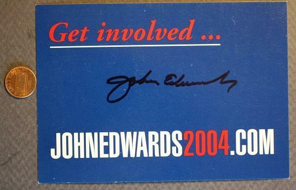 2004 North Carolina Senator John Edwards for President autographed postcard!*
