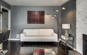 EQ3 Modern white leather couch
