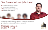 Commercial Cleaning Franchise Opportunity in Burlington