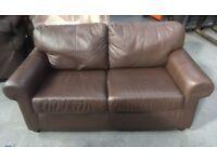 Ikea 2 Seater Leather Sofa Brown
