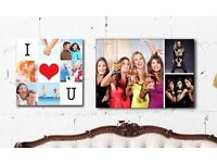 Collage or Single Image Framed Canvas Print