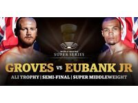 George Groves v Chris Eubank Jnr x 2 tickets - Block 219