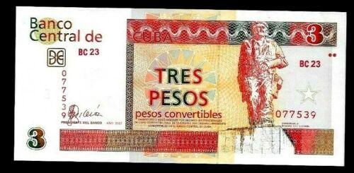 Banknote $3 convertible pesos, Che.