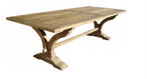 New Victoria  Rustic Recycled Timber  Dining Table   265cm x110