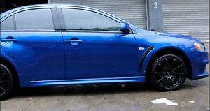 Carbon Fiber Look Side Vents Guards Mitsubishi Lancer CJ CF LS LX ES VRX SPORT
