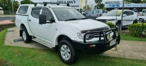 2015 Mitsubishi Triton MN MY15 GLX (4x4) White Automatic Double Cab Utility Bungalow Cairns City Preview