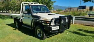 2011 Toyota Landcruiser VDJ79R 09 Upgrade Workmate (4x4) White 5 Speed Manual Cab Chassis Bungalow Cairns City Preview