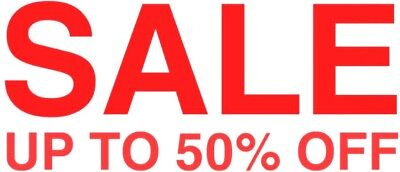 sale up to 50% off shop front window sign sticker reusable cling vinyl graphic