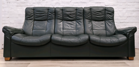 Ekornes Stressless Reclining Sofa With Armchair and Footstool