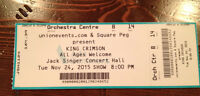 King Crimson- 2 tickets-Orchestra Seating