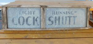 Antique Cockshutt farm machinery sign made by Frost & Wood