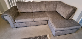 Grey L shaped Sofa - great condition