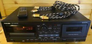 TASCAM CDA-500 combo (cd + tape deck) avec câbles RCA