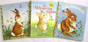 "3 ""BUNNY"" GOLDEN BOOKS, The Whispering Rabbit, Home for a bunny"